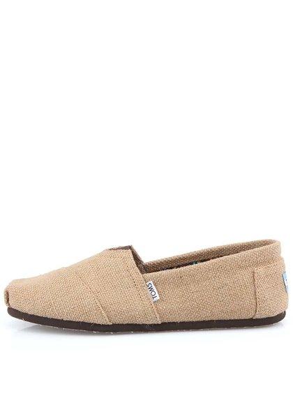 Béžové pánske loafers TOMS Burlap
