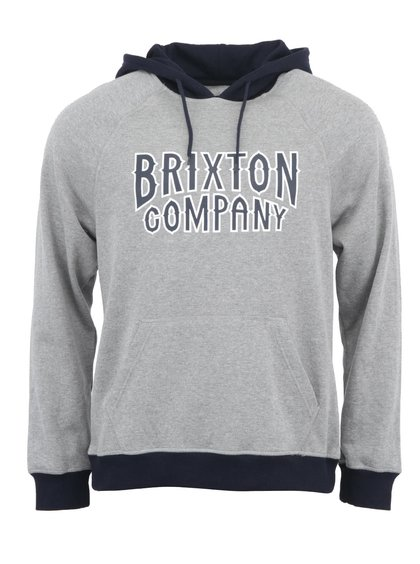 Modro-šedá pánská mikina s kapucí Brixton Bailey