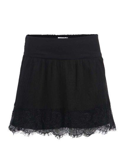 Černá sukně s krajkovým lemem Vero Moda Bondie