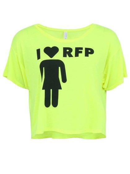 Neónové žlté dámske tričko ROCK FOR PEOPLE