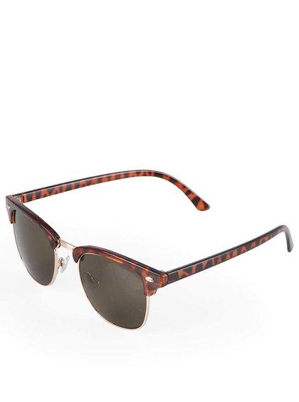 Hnědé leopardí sluneční brýle Vero Moda Leather Brown