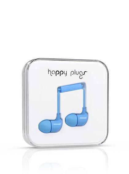 Căști Happy Plugs albastru deschis