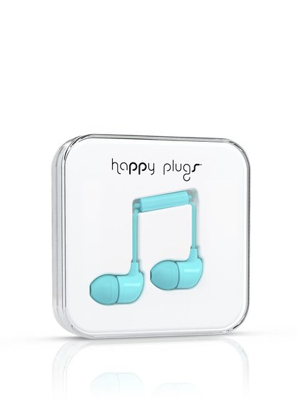 Mentolová In-Ear sluchátka sluchátka Happy Plugs