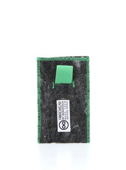 """Dobrý"" obal na mobil FOREWEAR so zelenou gumou"