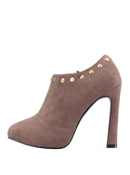 Hnědé kotníčkové boty Victoria Delef