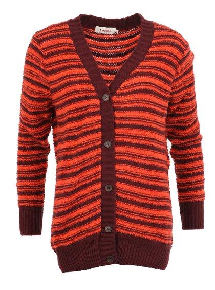 Červený pruhovaný cardigan Louche Kelsey