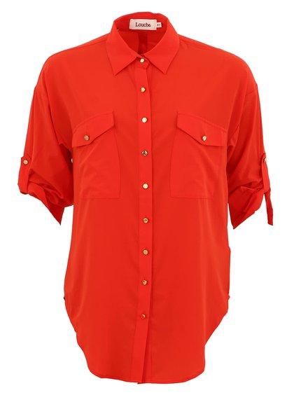 Červená košile Louche Deane