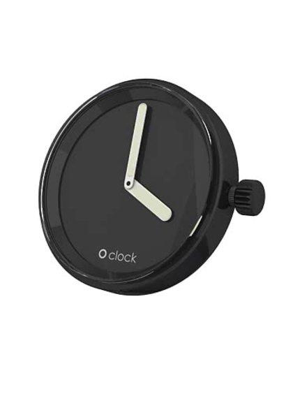 Čierny samostatný ciferník O clock