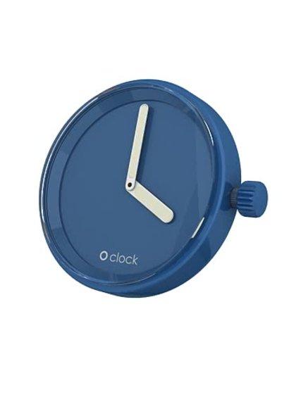 Modrý samostatný ciferník O clock
