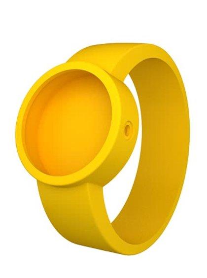 Žltý silikónový remienok na hodinky O clock