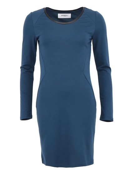 Rochie Lea din piele artificială albastru petrol de la VERO MODA