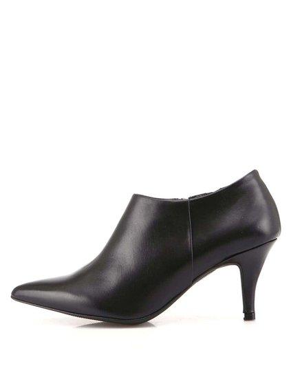 Pantofi negri cu toc, din piele de la OJJU