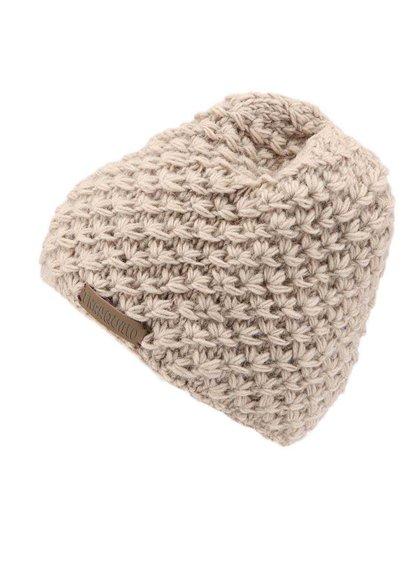 Béžová pletená čiapka TRANQUILLO RAJA