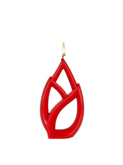 Červená svíčka Alusi Livia Petit