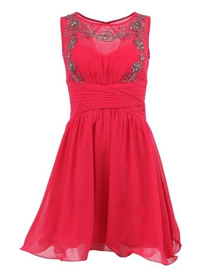Růžové šaty se zdobeným topem Little Mistress