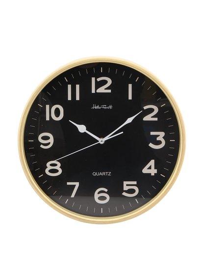 Černé nástěnné hodiny Helio Ferretti Globe