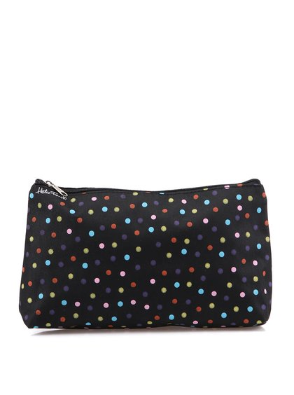 Geantă pentru cosmetice cu buline colorate Helio Ferretti - Negru