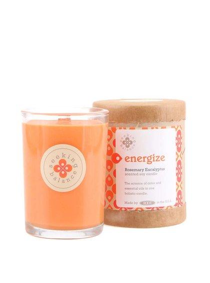 Oranžová vonná svíčka Root Candles Rosemary Eucalyptus - Energize