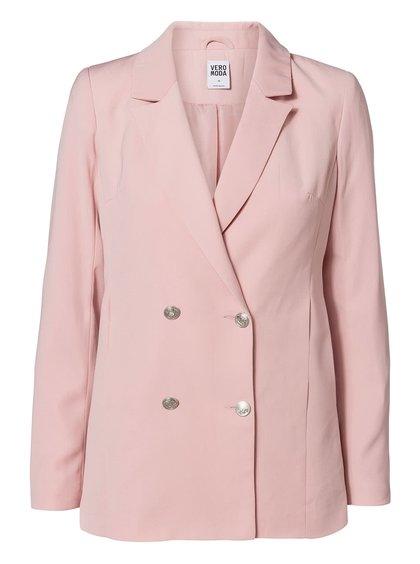 Blazer roz Vero Moda Sabi