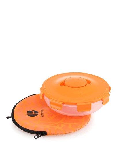 Oranžový box na šalát Prêt à Paquet