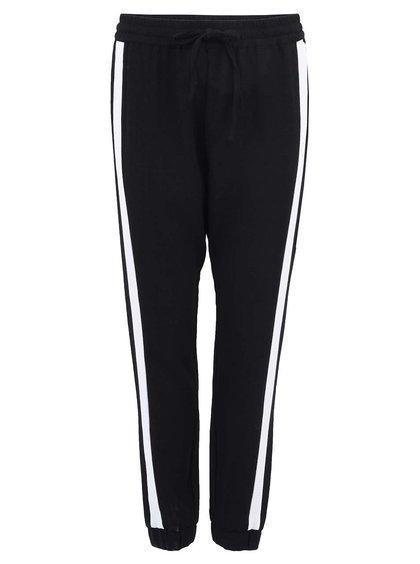 Pantaloni Dalia largi negri cu dungi albe de la Vero Moda