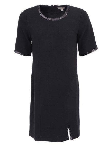 Černé šaty s flitrovanými detaily Fever London Mae