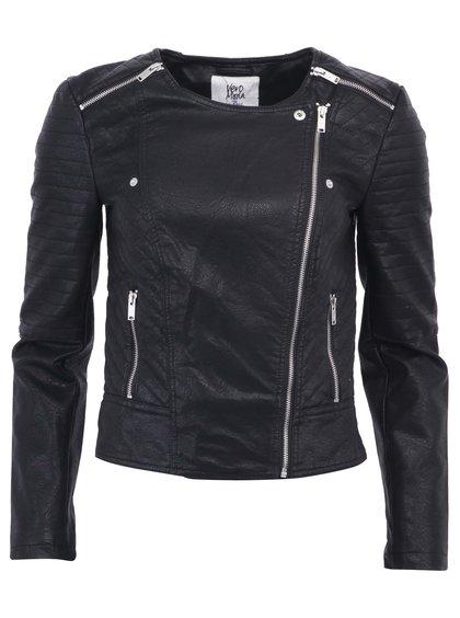 Černá krátká bunda zdobená zipy VERO MODA Air