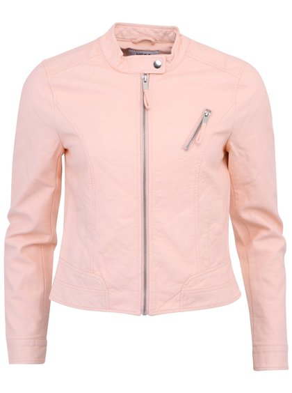 Jachetă roz din piele artificială VERO MODA Irina