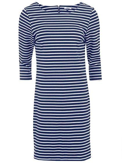 Modré pruhované šaty s 3/4 rukávom ONLY Emma II.