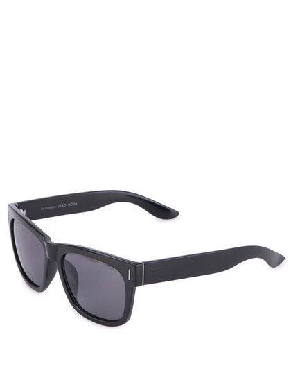 Čierne lesklé slenečné okuliare Vero Moda Peat