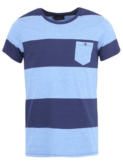 Modré pruhované tričko Casual Friday by Blend