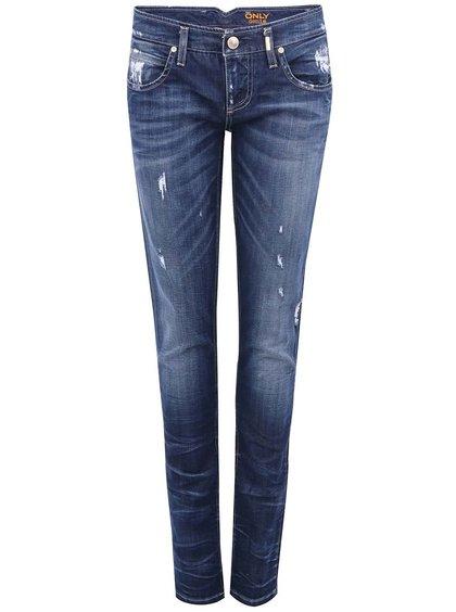 Jeanși Skinny ONLY Mercury din denim albastru închis