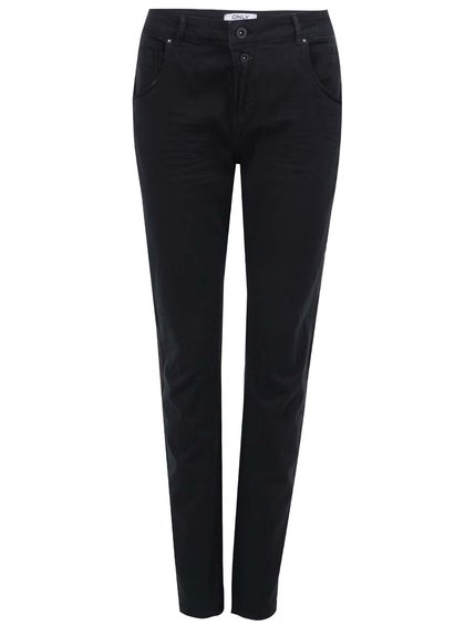 Pantaloni cu talie înaltă ONLY Lise - negri