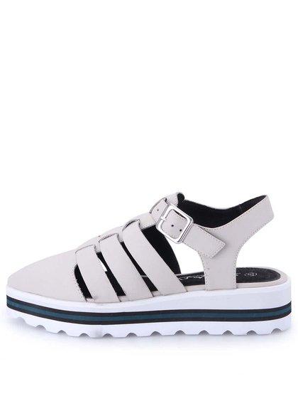 Krémové sandálky na platformě Sixtyseven