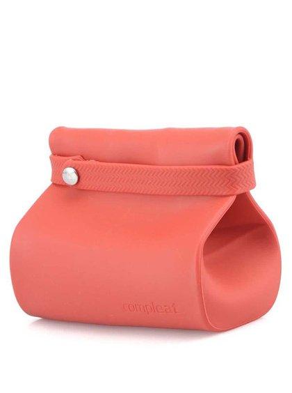 Červený silikonový pytlík na svačinu Compleat Foodbag