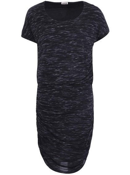 Čierne melírové šaty s krátkym rukávom Noisy May Jimmy