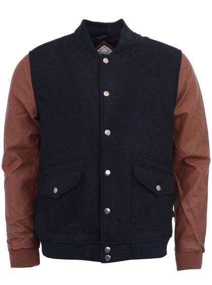 Jachetă bărbătească bleumarin cu mâneci maro Wailey Bellfield