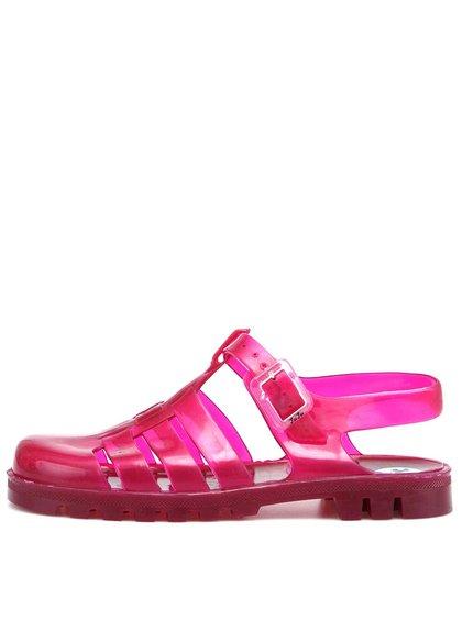 Růžové transparentní plastové sandálky JuJu Maxi