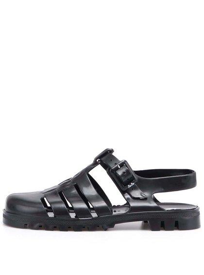 Čierne plastové sandálky JuJu Maxi