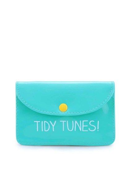 Modrozelené puzdro na slúchadlá Happy Jackson Tidy Tunes