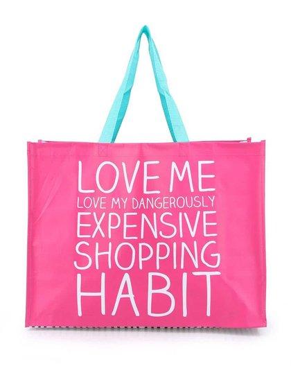 Ružová nákupná taška Happy Jackson Love Me