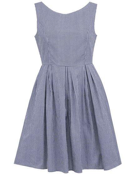 Modro-bílé kostkované šaty Fever London Charlotte