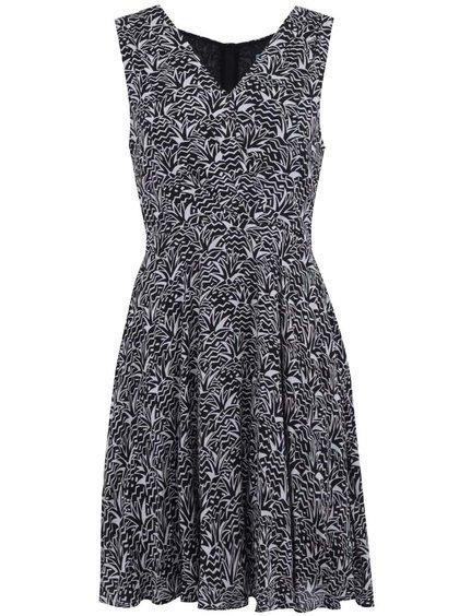 Černo-bílé vzorované šaty Fever London Savannah