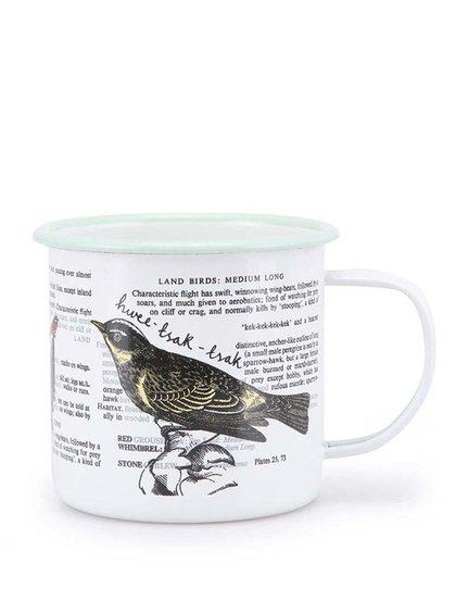Bílý plecháček s ptáčky Thoughtful Gardener Land Birds