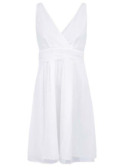 Rochie albă cu decolteu în V, model Josephine de la VERO MODA