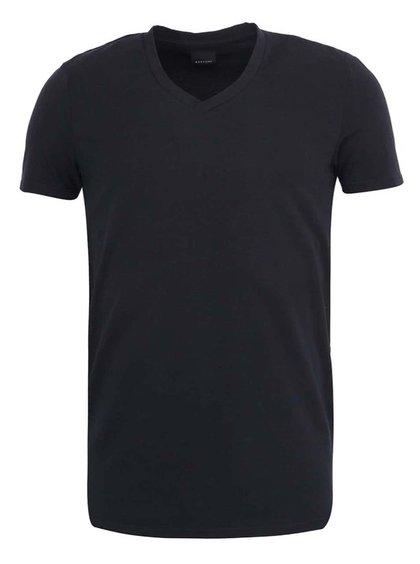 Čierne tričko s véčkovým výstrihom ONLY&SONS Pima