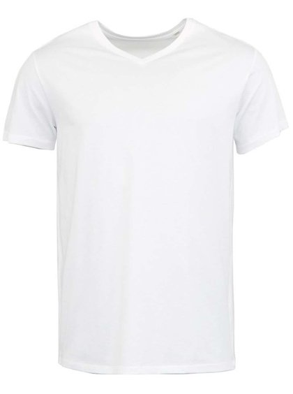 Tricou bărbătesc Expects Stanley & Stella - alb