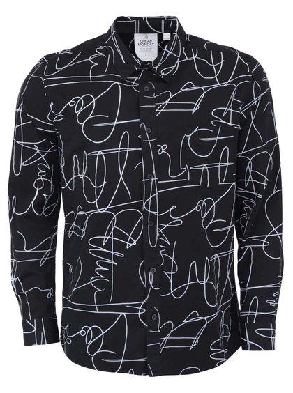 Černá pánská košile se vzorem Cheap Monday Autograph