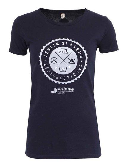 """""""Dobré"""" modré dámske tričko pre Nadačný fonf pre predčasne narodené deti a ich rodiny"""