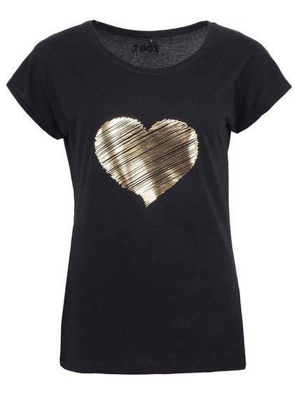 Tricou negru ZOOT Original cu imprimeu auriu